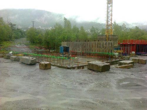 Chantier de la centrales hydroélectrique des Encombres