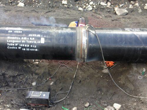 Soudure des tubes acier Ø800